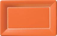 """12"""" Cafe Paper Plate - Orange"""