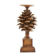 13 Inch Pinecone Pillar Candle Holder