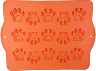 Hugs Pet Products Silicone Bake or Freeze Dog Treat Pan, Paw Print Shapes