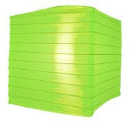 "10"" Neon Green Nylon Square Lantern"
