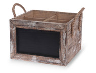 Chalkboard Wine Carrier with Rope Handles