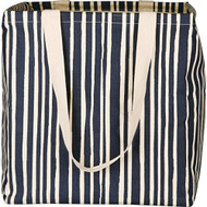 Candice Navy Stripe Laundry Hamper