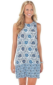 Mud Pie Rosie Blue Medallion Dress (Medium)