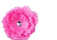 Fuchsia Flower Childs Hair Clip