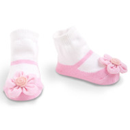 Baby Girl Light Pink Knit Maryjane Booties