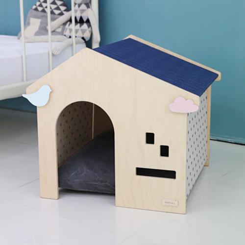 Handmade wooden dog house
