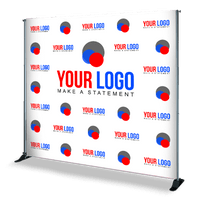 8' x 8' Step and Repeat Banner