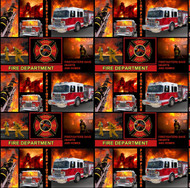 Fire Department Cotton Fabric-Fireman Cotton Fabric-Fire Fighter Fabric