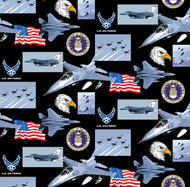 U.S. Air Force Cotton Fabric Geometric Design