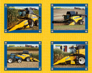 New Holland Cotton Tractor Pillow Panel