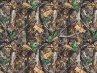 RealTree Cotton Flannel Fabric With Camouflage Design