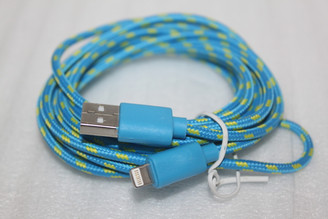 3M 10FT Long Blue braided USB Sync Data Charging Cable Cord for Apple iPhone 5S