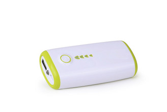 5600 mAh USB Portable External Backup Power Bank with flash light in Green