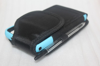 Big Black Nylon Pouch holster with belt loop For Iphone 6  6S with otterbox case on