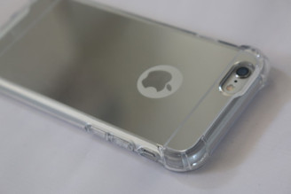 Silver Drop Proof Bumper Edge Case Mirror Shell For Apple Iphone 6 6S Plus 5.5""