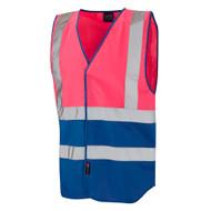 Leo Pilton Two-Tone Reflective Vest - Pink (W05-PK/RO)