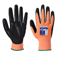 Portwest Traffic Light Amber Cut-2 PU Palm Gloves