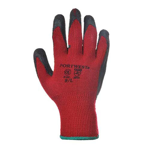 Portwest Premium Latex Palm Grip Gloves