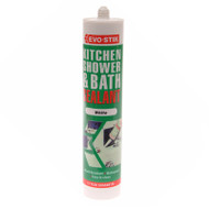 Evo-Stik Kitchen, Shower & Bath Sealant White C20 (EVOKSBSW)