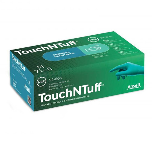 Ansell TouchNTuff Powder Free Nitrile Gloves - 92-600
