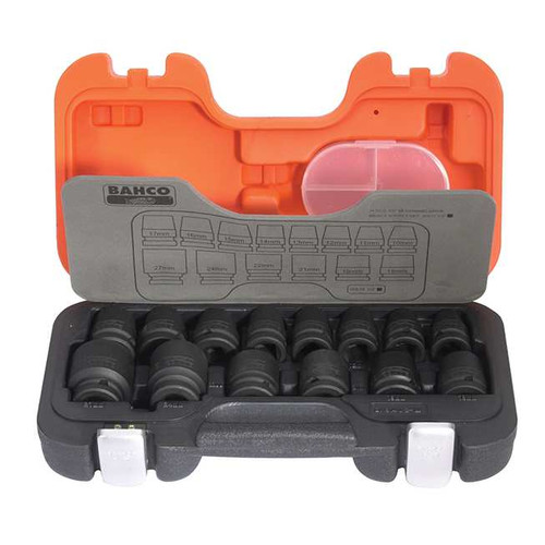 "Bahco 1/2"" Impact Socket Set - 14 pc Metric (BAHDS14)"