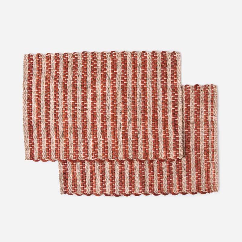 Fique Woven Stripe Placemats