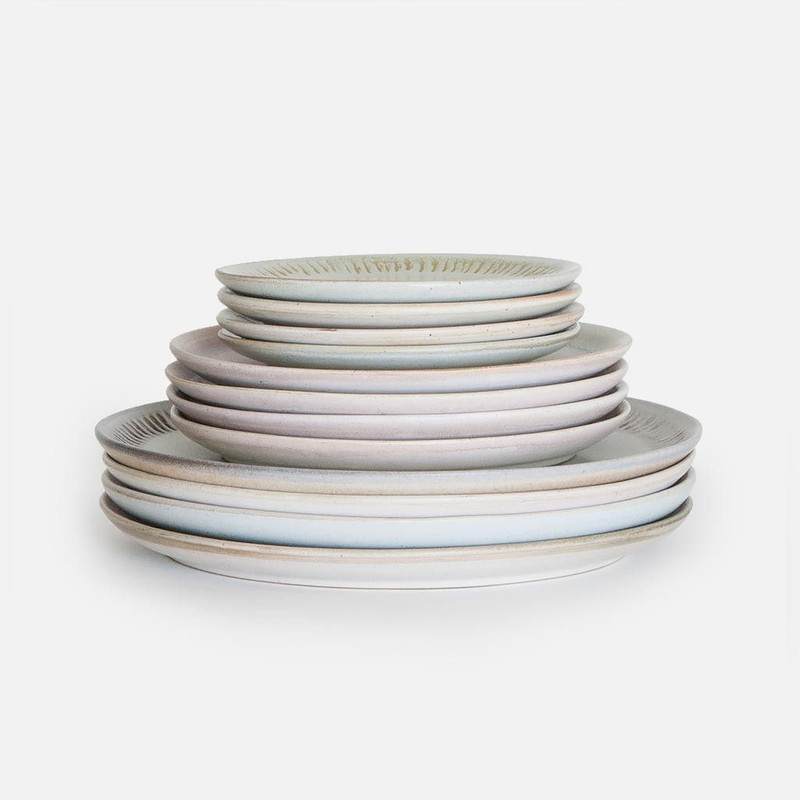 Sunrise and Ridges Ceramic Plates