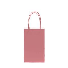 12CT SOLID CORAL KRAFT BAG
