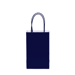 12CT SOLID NAVY KRAFT BAG