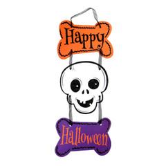 Halloween Skeleton X3 Wall Sign