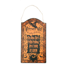 Witches Away Wall Sign