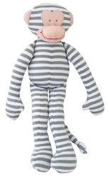 Monkey Rattle - Grey Stripe (30cm)