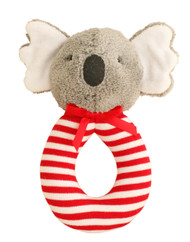 Koala Grab Rattle 16cm - Red