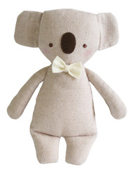 Linen Mini Rattle 18cm Koala