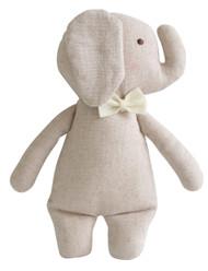Linen Mini Rattle 18cm Elephant