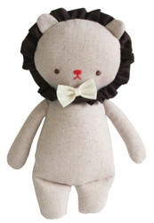 Linen Mini Rattle 18cm Lion