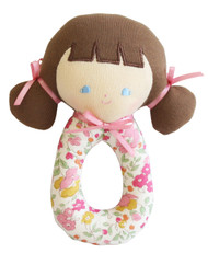 Audrey Grab Rattle 16cm Rose Garden