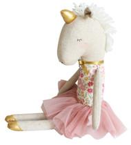 Yvette Unicorn Doll 43cm Rose Garden