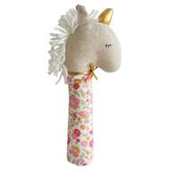 Yvette Unicorn Squeaker Rose Garden