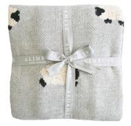 Baa Baa Blanket - Grey 100cm x 70cm