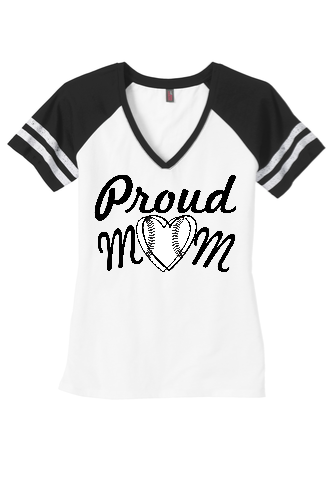 Proud Mom Game Day V-Neck