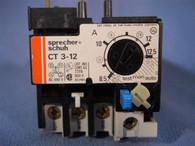 Sprecher Schuh (CT3-12.5) CT3-12, 8.5 to 12.5 Amp Overload Relay, New Surplus