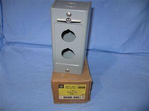 Allen Bradley 800h 2hz Push Button Enclosure New