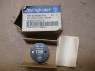 WESTINGHOUSE (12NCG1200) 1200 Amp Rating Plug, New in Box