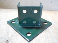 Unistrut (P2073A) Strut Post Base, Four Hole Green, New Surplus