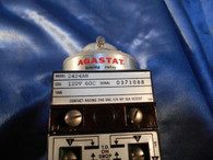 Agastat (2424AN) Coil 120V  60C Contact Rating 240 VAC. 1/4HP-10A Resist, Used