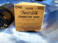 Hubbell (3423) Twist Lock Connector Body, New Old Surplus