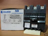 Challenger Circuit Breaker (NB232015) 3 pole, 15A, box of 2, New Surplus