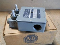 Allen Bradley (802T-NX7) Dual Oiltight Limit Switch, New Surplus