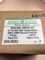 GE 343L492G2 Auxiliary Switch Kit for 200 Amp Integral Handle QMR & 2QMW Disconnect Switch